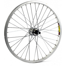 20 x 1.75 alloy for multi freewheel 135 mm silver rear wheel