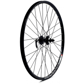 26 x 1.75 alloy 6 bolt disc brake only QR axle 100 mm black front wheel