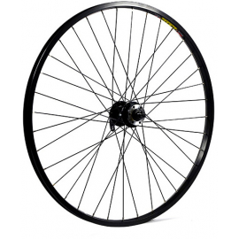 26 x 1.75 alloy 6 bolt disc or rim brake QR axle 100 mm black front wheel