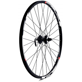 27.5 x 1.75 alloy 6 bolt disc brake only QR axle 100 mm black front wheel