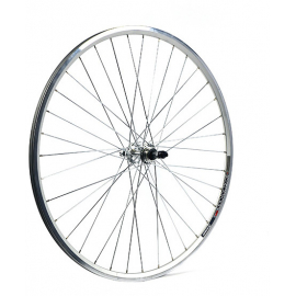 700C x 13 mm alloy QR for multi freewheel 130 mm silver rear wheel