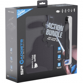 Action Bundle - POV case and POV Pole 19 for action cameras - Black