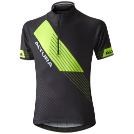 ALTURA KIDS SPORTIVE SHORT SLEEVE JERSEY 2016: BLACK/HI VIZ YELLOW 5-6 YEARS