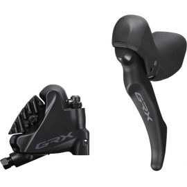 BL-RX600 GRX hydraulic disc brake lever bled with BR-RX400 calliper, left rear