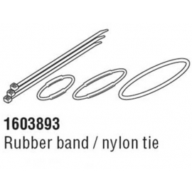 CATEYE STRADA SLIM COMPUTER RUBBER BAND AND ZIP TIE FITTINGS KIT :