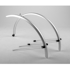 Commute full length mudguards 24 x 60mm silver