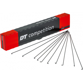 DT Swiss Competition black spokes 14 / 15 g = 2 / 1.8 mm box 100, 250 mm