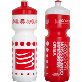 Cycling Bottle - White/Red Dots