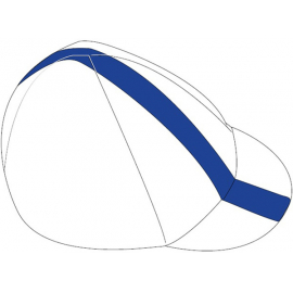Cycling Cap, White/Blue, Large