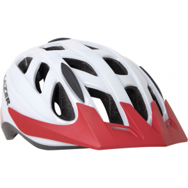 Cyclone Helmet, White/Red, Medium