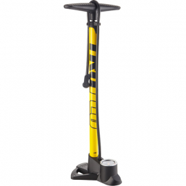 Easitrax 3 track pump with gauge, max 160 psi, yellow