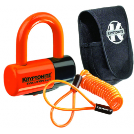 Evolution Disc Lock - Premium Pack - Orange Wth Pouch And Reminder Cable