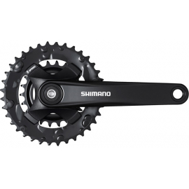 FC-MT101 chainset 36/22, 9-speed, black, 170 mm, for boost, without chainguard