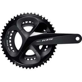 Shimano 105 FC-R7000 105 double chainset, HollowTech II 165 mm 50 / 34T, black