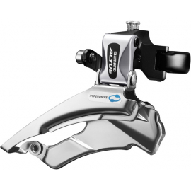 FD-M313 Altus hybrid front derailleur, conventional swing, dual-pull, multi fit