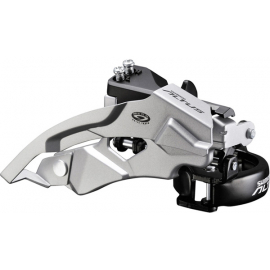 FD-M370 Altus 9-speed front derailleur, top swing, dual-pull
