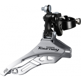 FD-TY300 Tourney 6/7 speed triple front derailleur, down pull, 28.6 mm, for 42T