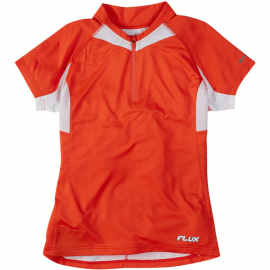 Flux women's short sleeved jersey, chilli red size 16