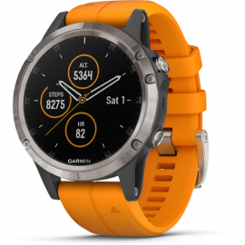 fenix 5 Plus GPS Watch - Sapphire - Ti with Band