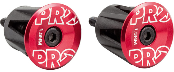 Pro Road MTB Handlebar End Plugs Anodized alloy Red endplug