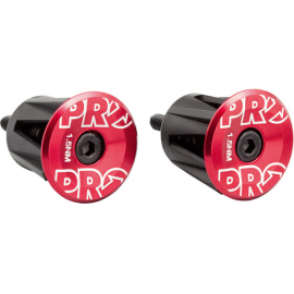 Handlebar End Plugs, Alloy, Red