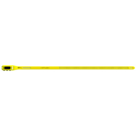 Hiplok HIPLOK Z-LOK COMBO ARMOURED REUSEABLE TIE (SINGLE): YELLOW 40CM