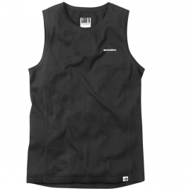 Isoler Merino men's sleeveless baselayer, black XX-large