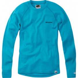 Isoler Merino women's long sleeve baselayer, aqua blue size 12