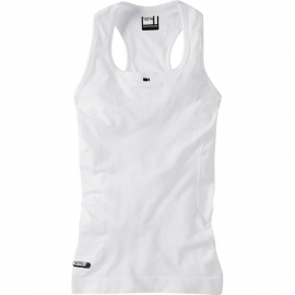 Isoler mesh women's sleeveless baselayer, white size 12 - 14