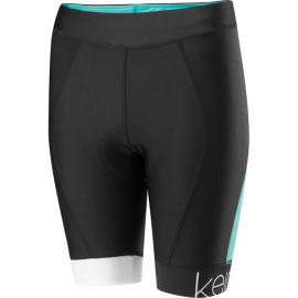 Keirin Women's Shorts, Black / Cockatoo Blue Size 16