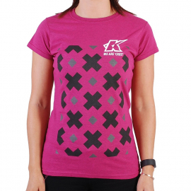 KUK - T-Shirt - We Are Cross - Womens - Dark Pink Heather - Large
