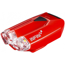 Lava super bright micro USB front light with QR bracket red