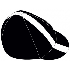 cycling cap black / white line large
