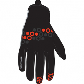 Element youth softshell gloves  hex black / chilli red small