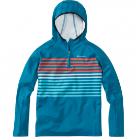 Zen youth long sleeve hooded top  china blue / blue curaco age 9 - 10