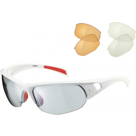 Mission glasses 3 lens pack - gloss white / silver mirror, amber & clear lens