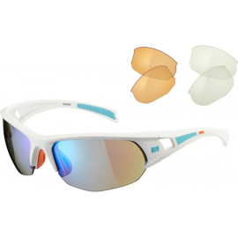 Mission glasses 3 lens pack - MGT Ltd white / blue mirror, amber & clear lens