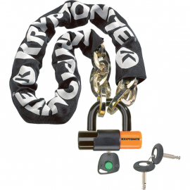 New York Noose (12 mm/100 cm) - With Ev Series 4 Disc Lock 14mm Sold Secure Gold