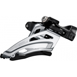 Deore M6020-L double front derailleur  low clamp  side swing  front pull