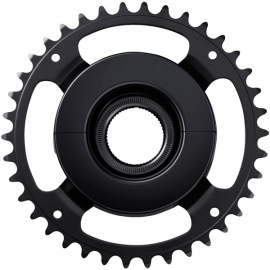 SM-CRE61 STEPS chainring  black  38T without chainguard