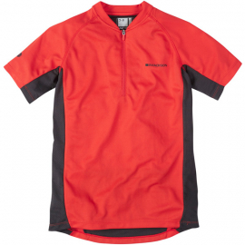 Trail youth short sleeved jersey, flame red age 10 - 12