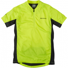 Trail youth short sleeved jersey, hi-viz yellow age 10 - 12