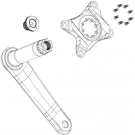 Spare Left Arm Crank Truvativ Firex Gxp Black 175Mm