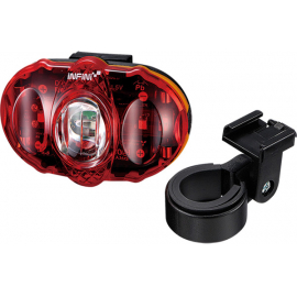 Vista 3 LED rear light, with batteries and bracket