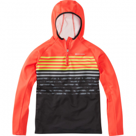 Zen youth long sleeve hooded top  chilli red / black camo age 9 - 10